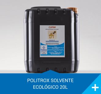 politrox solvente ecologico concentrado 20l